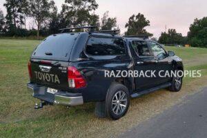 razorback fibreglass canopy toyota hilux sr5