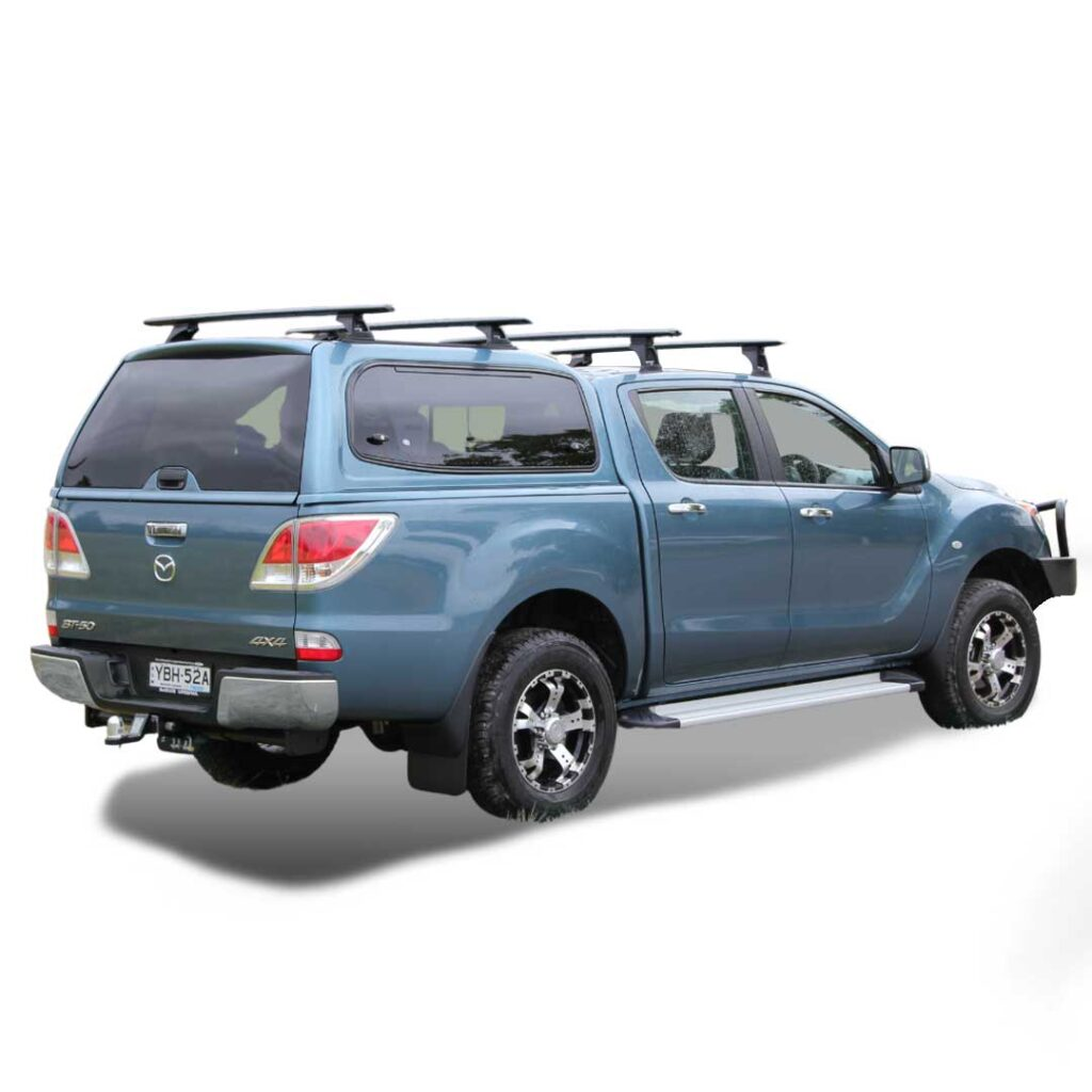 razorback smm steel canopy fitted to a mazda bt-50 dual cab