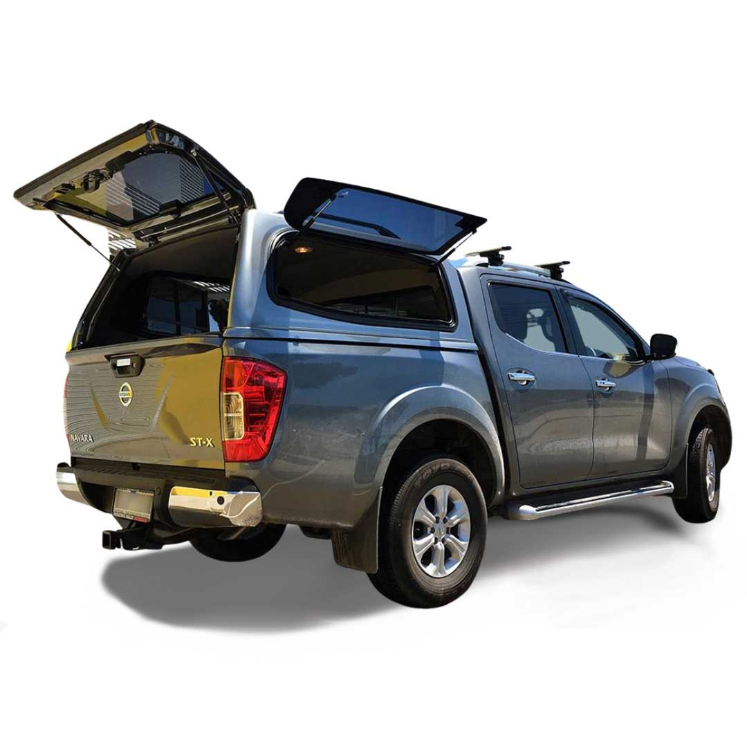 Razorback SMM Steel canopy fitted to a Nissan navara NP300 dual cab