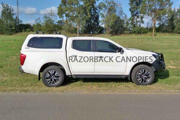 razorback steel canopy np300 white