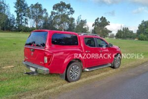 razorback fibreglass canopy red nissan navara np300